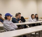 Students listening at UnSlut Film Screening and Discussion