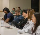 Students participating in UnSlut film Discussion