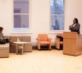 Speaker Tanya Sanders, Monica Miller, Williams, Global Commons, Lehigh University WGS, audience