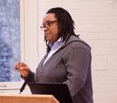 Speaker Tanya Sanders, Williams, Global Commons, Lehigh University WGS, audience